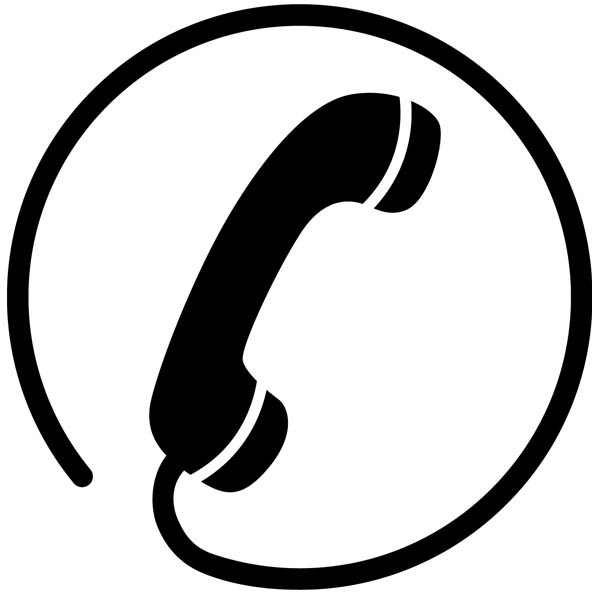 sticker logo telephone